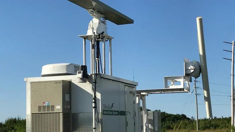 DeTect's MERLIN Avian radar tracks birds at Eastern Kings wind farm, PEI, Canada